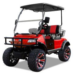 Carrello di golf di caccia con il cestino (DEL2022D, 2seat) più Blackroof rosso