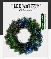 LED 광섬유 파인 니들 크리스마스 화환