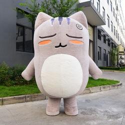 좋은 품질 최고 디자인에 의하여 주문을 받아서 만들어지는 견면 벨벳 팽창식 고양이 복장