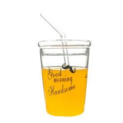 새로운 대용량 스트로 컵 가정용 워터 컵 여성용 음료 빨래 밀크 티 컵 커피 컵 어린이 유리컵