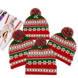 طفلة [موم] ينكبك دافئة يثقيل [بومبون] [بنس] والد - طفلة أزياء فاخرة عيد الميلاد الميلاد الميلاد قبعات الباني الشتوية