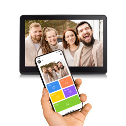 Pantalla táctil de 8 pulgadas de Smart Photo Frame Picture Cloud