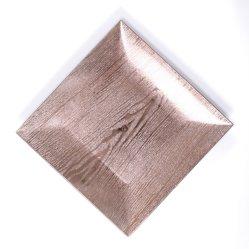 使い捨て可能なプラスチック明確な正方形の銀製キャンデーの皿