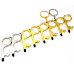 Premere l'apri su ordinazione all'ingrosso Keychains del portello del metallo di EDC 3D dell'ottone dei fornitori della catena chiave dell'elevatore