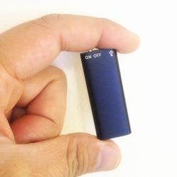 Het digitale Registreertoestel die van de Stem van het Registreertoestel van de Stem Mini met 8GB de Aandrijving van de Flits van USB en MP3 de Uren van Function/96 de Zwarte Kleine AudioDictafoon van de Capaciteit registreren
