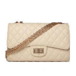 Bolsa de pele artificial Qulited Mercado grossista Lady Handbag mulheres mala