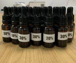 Diseño personalizado 15ml 30ml por la botella de aceite de cáñamo CBD