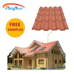 Types de matériaux de couverture de toiture en plastique de la résine synthétique tuile de toit