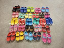 Commerce de gros stocks de jardin enfants Chaussures Slip-on pantoufles (FFSS0413-02)