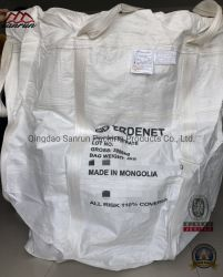 La parte inferior del círculo FIBC Bolsa con camisa de PE para el embalaje de 3000kg de polvo de hierro