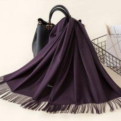 熱い販売法の高品質の優雅なウールのPashminaの人のための明白なショールのスカーフ