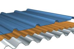 Los recursos de techo de metal de 1200mm/ Hoja de impermeabilización de cubiertas de acero galvanizado corrugado