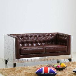Speciale Design soggiorno divano Mobili con struttura in metallo e. Rivestimento in pelle PU (SP-KS338)