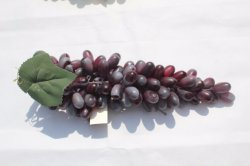 Cheap frutas artificiales uva falsos para el hogar decoración de boda