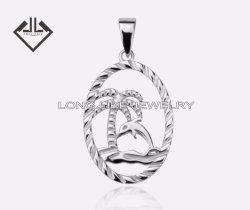 925 de de zilveren Kokospalm van Juwelen en Tegenhanger van de Manier van de Dolfijn