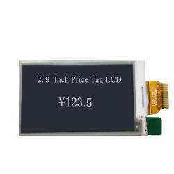Écran LCD 2,9 pouces pour l'étiquette de prix d'EPD