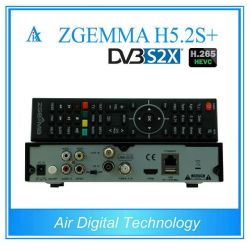 DVB-S2+DVB-S2/S2X/T2/C тройной тюнеры Zgemma H5.2s плюс спутникового или кабельного ресивера Hevc ОС Linux E2/H. 265 функций