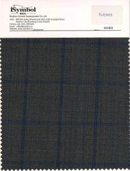 空想70%のウールのそ毛ファブリック、小切手デザイン、Suitingファブリックのための青の小切手が付いている灰色の背景