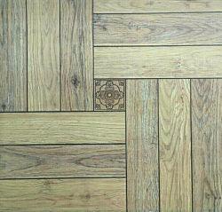 Tuile en bois de plancher juste de canton en céramique pour la configuration de fleur