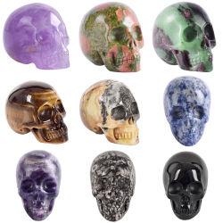 На заводе оптовой мини ремесел индивидуальные подарки из природного камня Quartz Crystal драгоценных камней череп