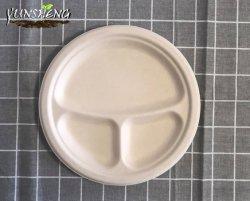 건장한, 글루텐 자유로운 Wheatstraw 섬유는 증명한 Compostable, Eco-Friendly, 최신과 찬 음식 생물 분해성 처분할 수 있는 격판덮개를 위한 Microwavable 그리고 안전 이다