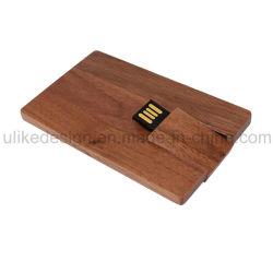 Деревянные карты поощрение полного логотипа USB Flash Driver (UL-W)022-1