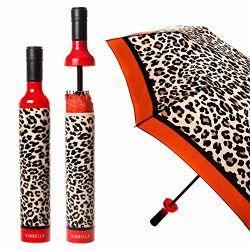 De Paraplu van de Fles van de wijn - het Af:drukken van de Luipaard