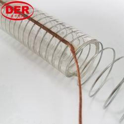 Slang van de Olie van de Draad van het Staal van de fabriek PVC/Plastic de Antistatische Duidelijke Spiraalvormige Versterkte