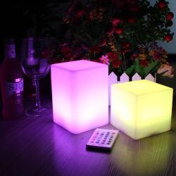 Dekoration-Plastik und glühendes Stab-Tisch-Lampen-Würfel-Licht des modernen Entwurfs-LED für Verkauf