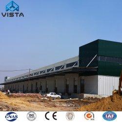 De Industrie van de Vervaardiging van China prefabriceerde het GolfPakhuis van de Gebouwen van de Workshop van de Container van de Opslag van de Loods van de Bouw van het Kader van de Structuur van het Staal van de Kraan Zware Lichte