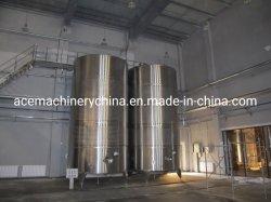 cuve de fermentation sanitaires en acier inoxydable de navire pour le traitement du vin