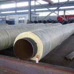Огнеупорные рок шерсть изоляции трубопровода алюминиевой фольги