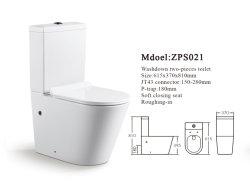La promotion de couleur blanche d'impulsion de la gravité de forme ronde en céramique de rinçage Wc porcelaine sanitaire cuvette des toilettes à deux pièces