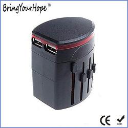 USB를 가진 보편적인 여행 어댑터 플러그는 향한다 (XH-UC-040)