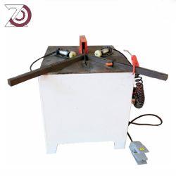 Ángulo hidráulico muesca V de la esquina de la máquina de corte de chapa metálica pequeña empresa