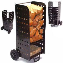 Connectez-vous transporter et de la boîte de rangement chariot porte-journal du bois de chauffage Panier Panier Le panier