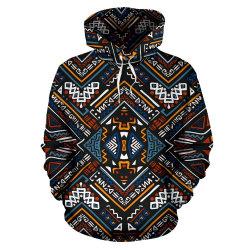 Nuevo diseño personalizado de impresión tamaño de África más de 100% algodón de manga larga sudaderas con capucha hombres invierno Sudadera Casual Tops de hombre