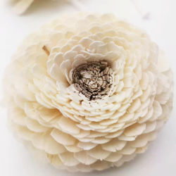 Eco-Friendly Sola Wood Peony Rose Flores
