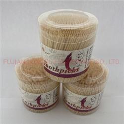 Botella de plástico de 2,0 mm punta doble lleno de bambú desechables para el hogar/Hotel/Supermercado Bambú palillo de dientes fabricante