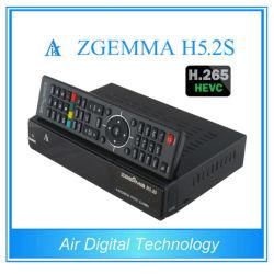 Récepteur HD H5.2s Zgemma original avec H. 265 Hevc enigma2 DVB-S2 Le récepteur satellite Full HD
