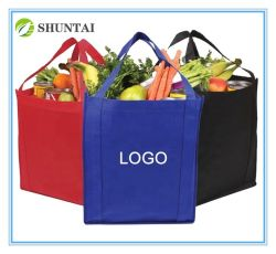 Promoción impresa personalizada PP Nonwoven reutilizable Bolsa ecológica Non-Woven Bolsa de compras la bolsa de tela con Logo