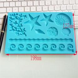 DIY 베이킹 금형 다이렉트 세일즈 사랑스러운 동물 해변 소라 케이크 금형 DIY 베이킹 도구 퐁당 실리콘 몰드
