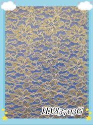Металлические золотые ткани кружева для одежды и одежды