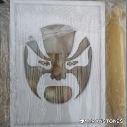 Lichtdurchlässiger kundenspezifischer Polieronyx-Fertigkeit-heißer Verkaufs-Form-Alabaster-Entwurf