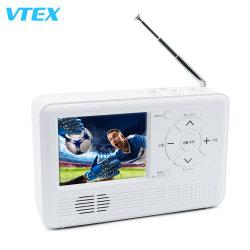 3.2인치 핸드 크뱅크 다이너모 수동 전원 생성 미니 PC TV 긴급 용도 사무실 저렴한 휴대용 브래킷 미니 TV