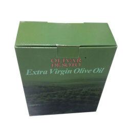 El verde oliva fresco cartón Caja de cartón para embalaje de aceite de oliva