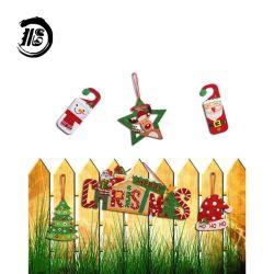Decoração de Natal Suprimentos travando puxador da porta santa boneco pendente de padrão de produtos de Natal