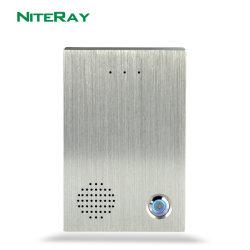 アスタリスクかAlcatelまたはAvayaまたはCisco PBXと互換性がある可聴周波SIPのドアの電話IPのドアベルSIPの通話装置のアクセス制御システム戸口の呼び鈴
