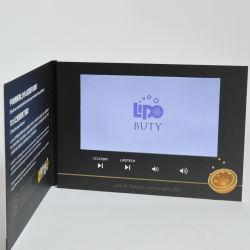 Usine de Shenzhen LED 10,1 pouces Vidéo de Noël Ecartes pour boire de la carte de voeux Brochure du module d'enregistrement numérique