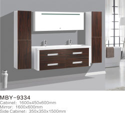 Neuer Form-Melamin-Badezimmer-Eitelkeits-Schrank mit Spiegel